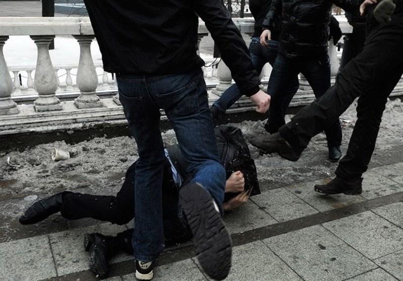 درگیری طرفداران اینتراخت فرانکفورت و دینامو کیف در پایتخت اوکراین