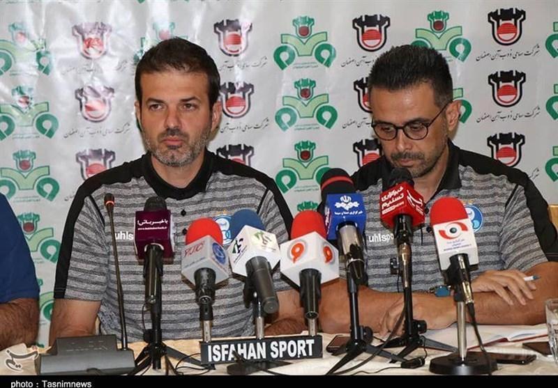 اصفهان، استراماچونی: خیلی زود ذهنیت مان را از دربی خارج و به دیدار بعدی فکر کردیم، لیگ سخت ایران احتیاج به یاری داور ویدئویی دارد