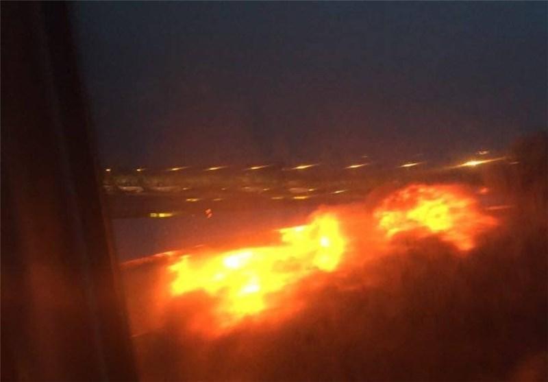 آتش سوزی در هواپیمای بوئینگ خطوط هوایی مالزی