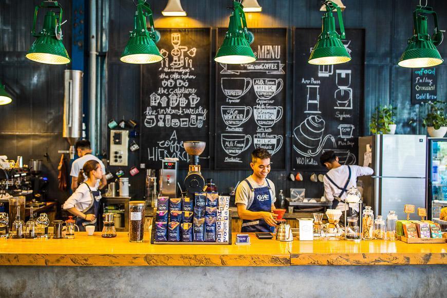 در ویتنام برای قهوه را توقف کنید