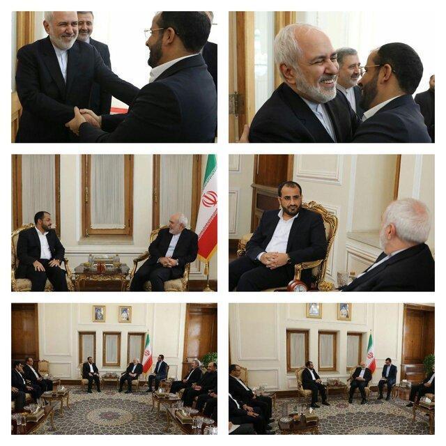 دیدار و گفت وگوی سخنگوی انصارالله یمن با ظریف