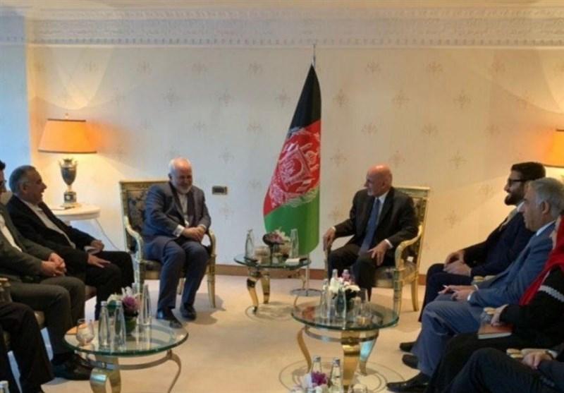 ملاقات ظریف با رئیس جمهور افغانستان در ترکیه