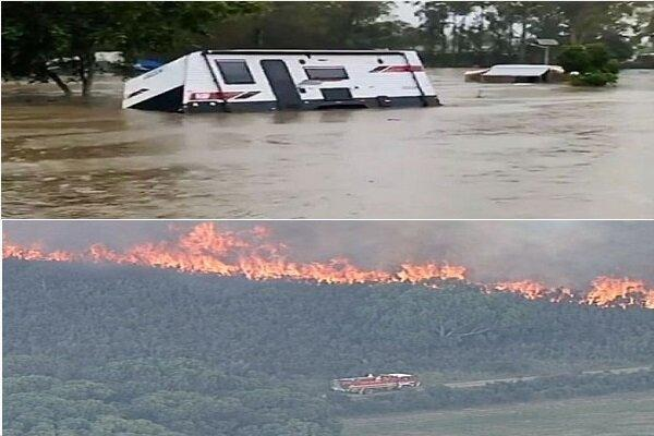 استرالیا در مصاف آب و آتش