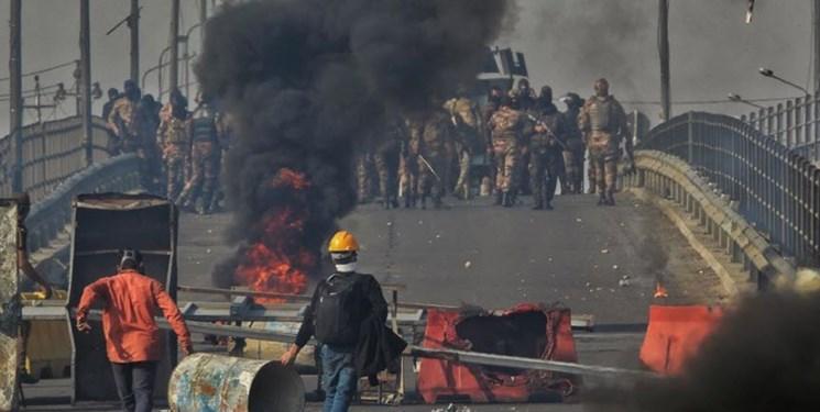 ادامه ناآرامی های بغداد؛ معترضان دو پل را مسدود کردند