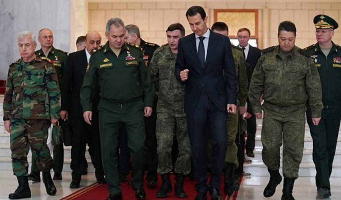 خبرنگاران رایزنی وزیر دفاع روسیه با اسد درباره تحولات شمال غرب سوریه