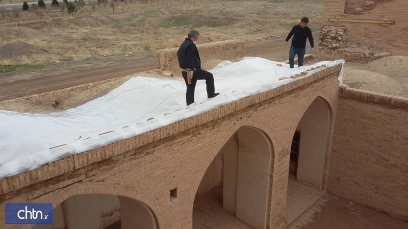 اجرای تمهیدات لازم برای حفاظت اضطراری بناهای تاریخی در فردوس