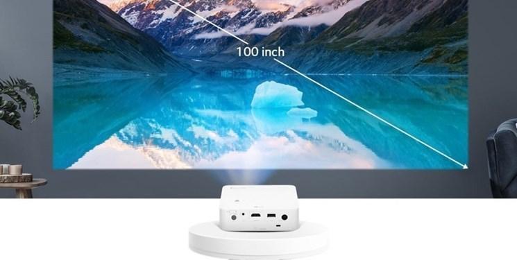 فراوری پروژکتور سینمایی 100 اینچی برای پخش تصویر از فاصله سه متری