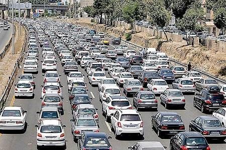 افزایش 6 درصدی تردد، ترافیک سنگین در ورودی پایتخت و محورهای شمالی