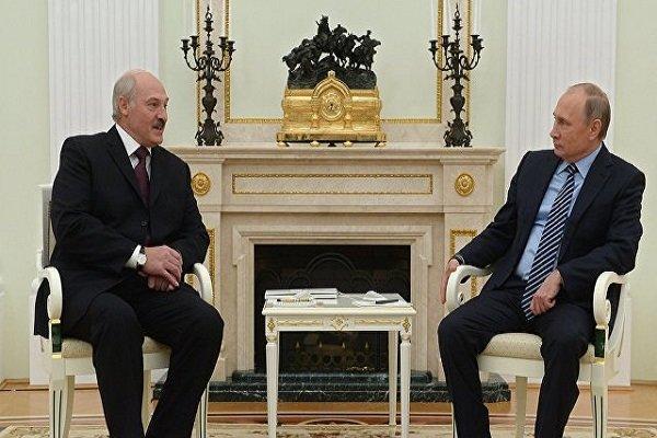 ملاقات پوتین و لوکاشنکو شروع شد