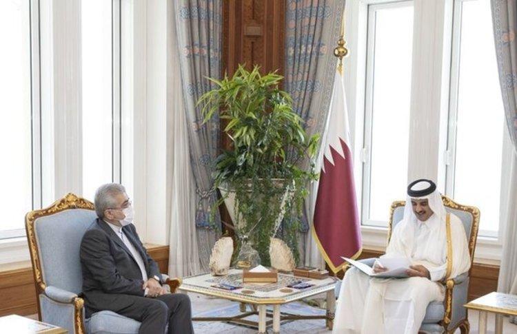 تحویل پیغام روحانی به امیر قطر