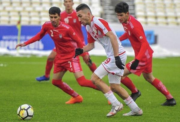 تساوی تیم فوتبال جوانان ایران مقابل تاجیکستان