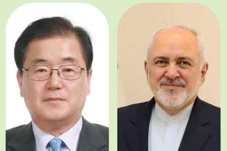 ابراز امیدواری ظریف نسبت به آزاد شدن اموال ایران در کره جنوبی